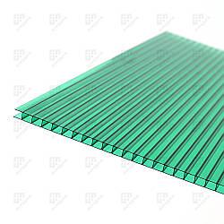 Сотовый поликарбонат Italon, зелёный, 4 мм