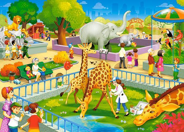 Пазлы Зоопарк, 60 эл.