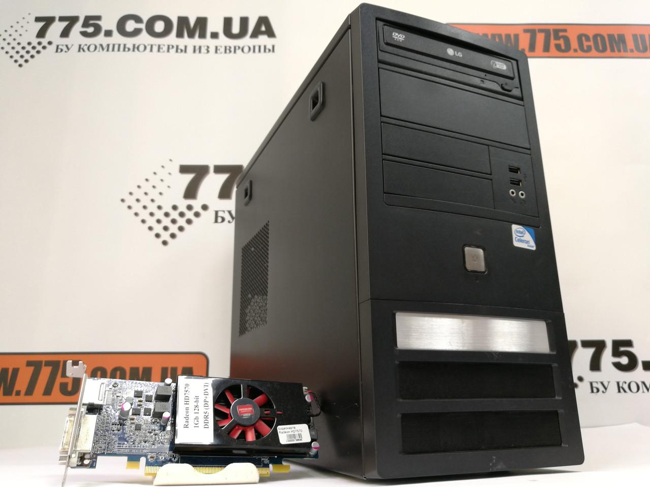 Игровой компьютер, Intel Core2Quad Q9505  2.83GHz (4 ядра), RAM 4ГБ, SSD 240ГБ, Radeon HD7570 1GB DDR5
