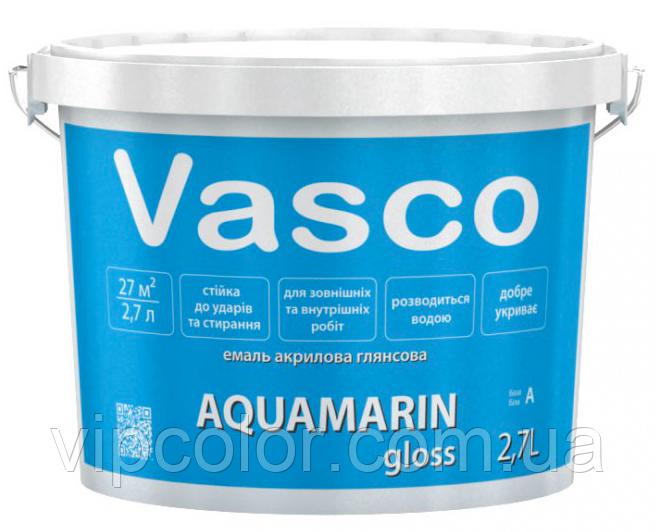 VASCO AQUAMARIN gloss эмаль глянцевая для дерева и металла 9л