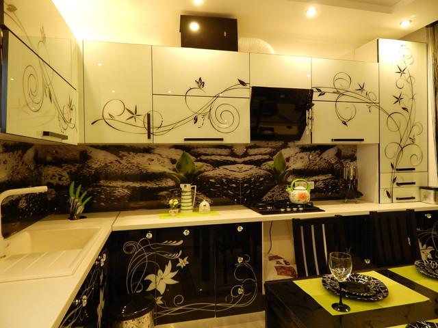 Кухня с рисунком аэрографии