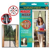 Антимоскитная сетка Magic Mesh магнитная против насекомых на магнитах