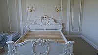 Ліжко(кровать) з натурального дерева(ясен, дуб, клен) різьблена чудовим орнаментом.