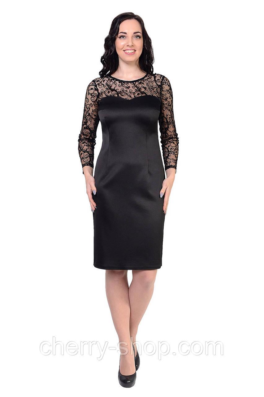 Черное элегантное платье женское