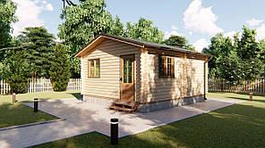 Дом из профилированного бруса 5,6х5,0 м. Кредитование строительства деревянных домов