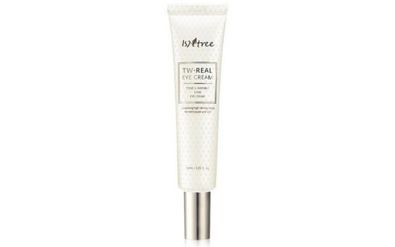 Омолаживающий крем для кожи вокруг глаз с лизатом бифидобактерий IsNtree TW-REAL Eye Cream