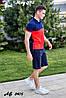Мужской молодежный летний спортивный костюм: шорты и футболка поло, реплика Найк, фото 10