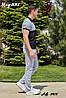 Мужской молодежный летний спортивный костюм: штаны и футболка поло, реплика Найк, фото 4