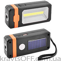 Фонарь кемпинг 8051-LM+COB, power bank, солнечная батарея, ЗУ micro usb, магнит