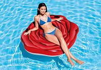 Матрас надувной Роза, плотик для плаванья, подарок для детей от 6 лет, фото 1