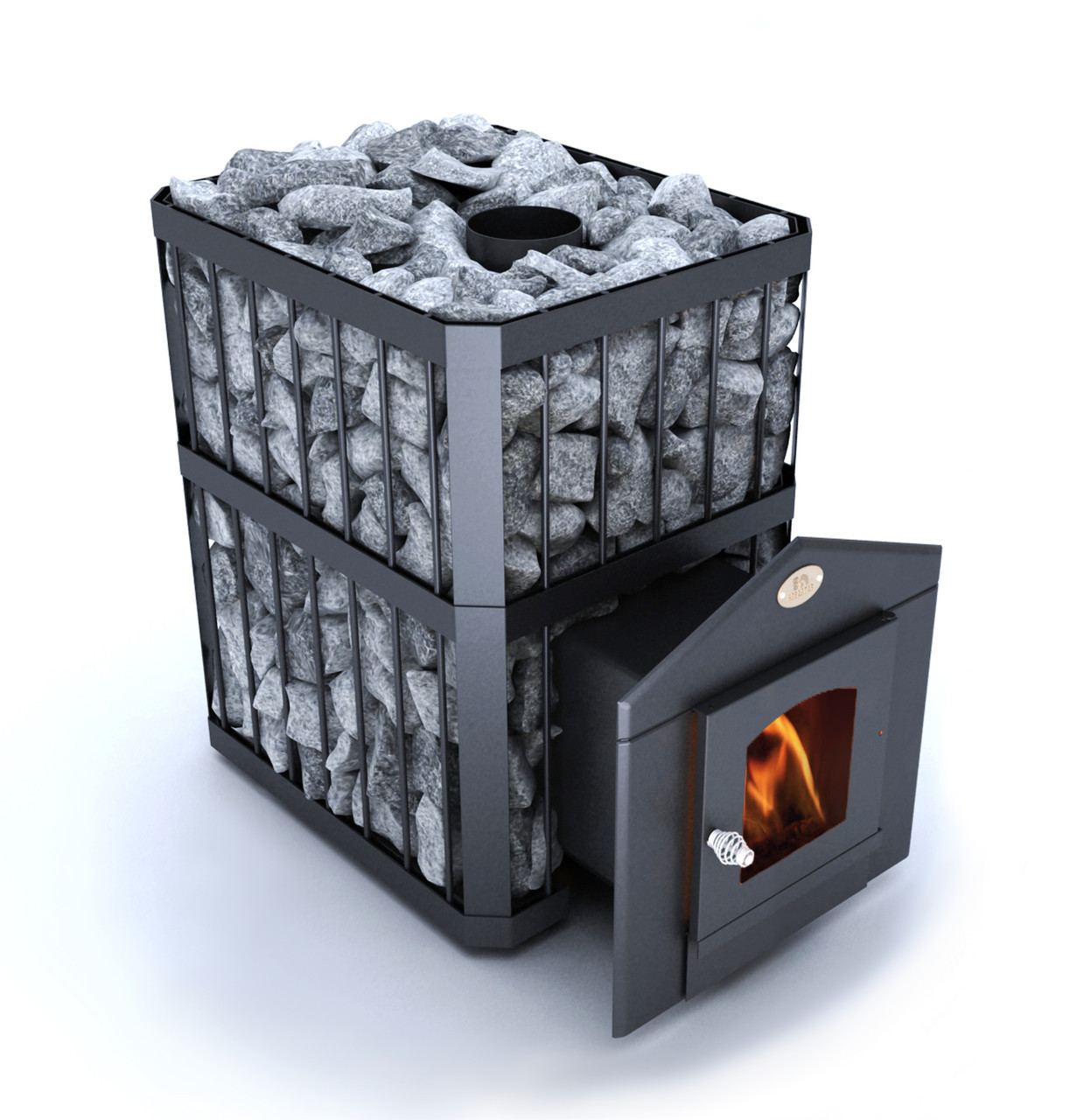 "Дровяная печь-каменка ""Пруток"" для сауны, бани до 26 м3"