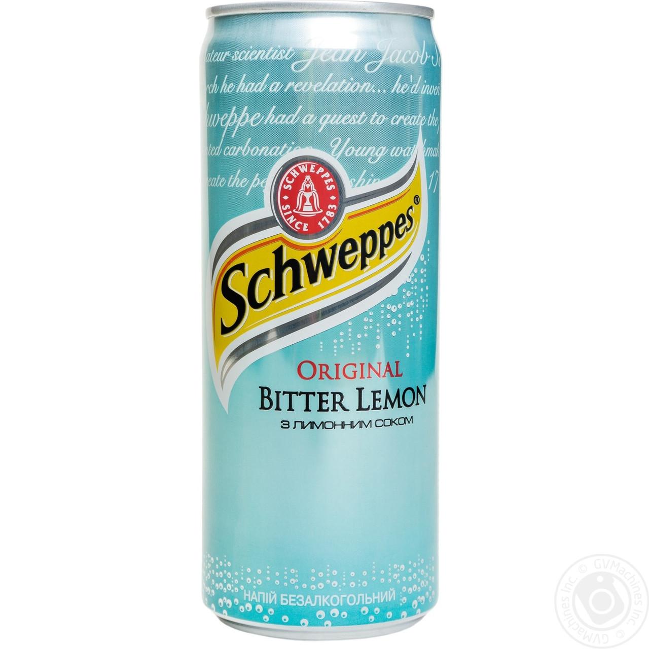 Швепс с лимонным соком 0,33л