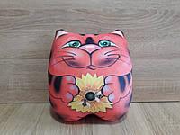 Антистрессовая игрушка-подушка Кот с подарком
