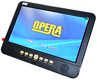 """Портативный телевизор с Т2 Opera 1002 - 13,8"""" Экран- TV - USB - SD"""