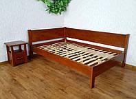"""Угловая полуторная кровать для спальни """"Шанталь"""" от производителя 120х190"""