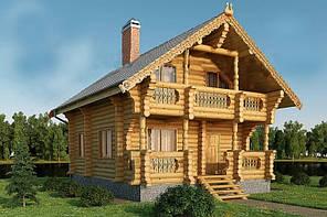 Домокомплект дома из оцилиндрованного бруса от производителя в Украине