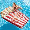 Матрас надувной Попкорн 178*124 см, плотик для плаванья, подарок от 6 лет