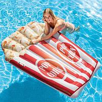Матрас надувной Попкорн 178*124 см, плотик для плаванья, подарок от 6 лет, фото 1