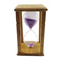 Фирменные часы Time is Money песочные на 20 минут фиолетовый песок