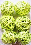 Шар из ротанга 12 см салатовый, фото 2