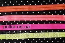 Бейка стрейчевая, ширина 1.5см, цвет оранжевый, розовый, малиновый, желтый(1уп=46м)
