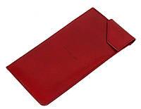 Футляр для очков кожаный Vip Collection 81 Prestige  Красный