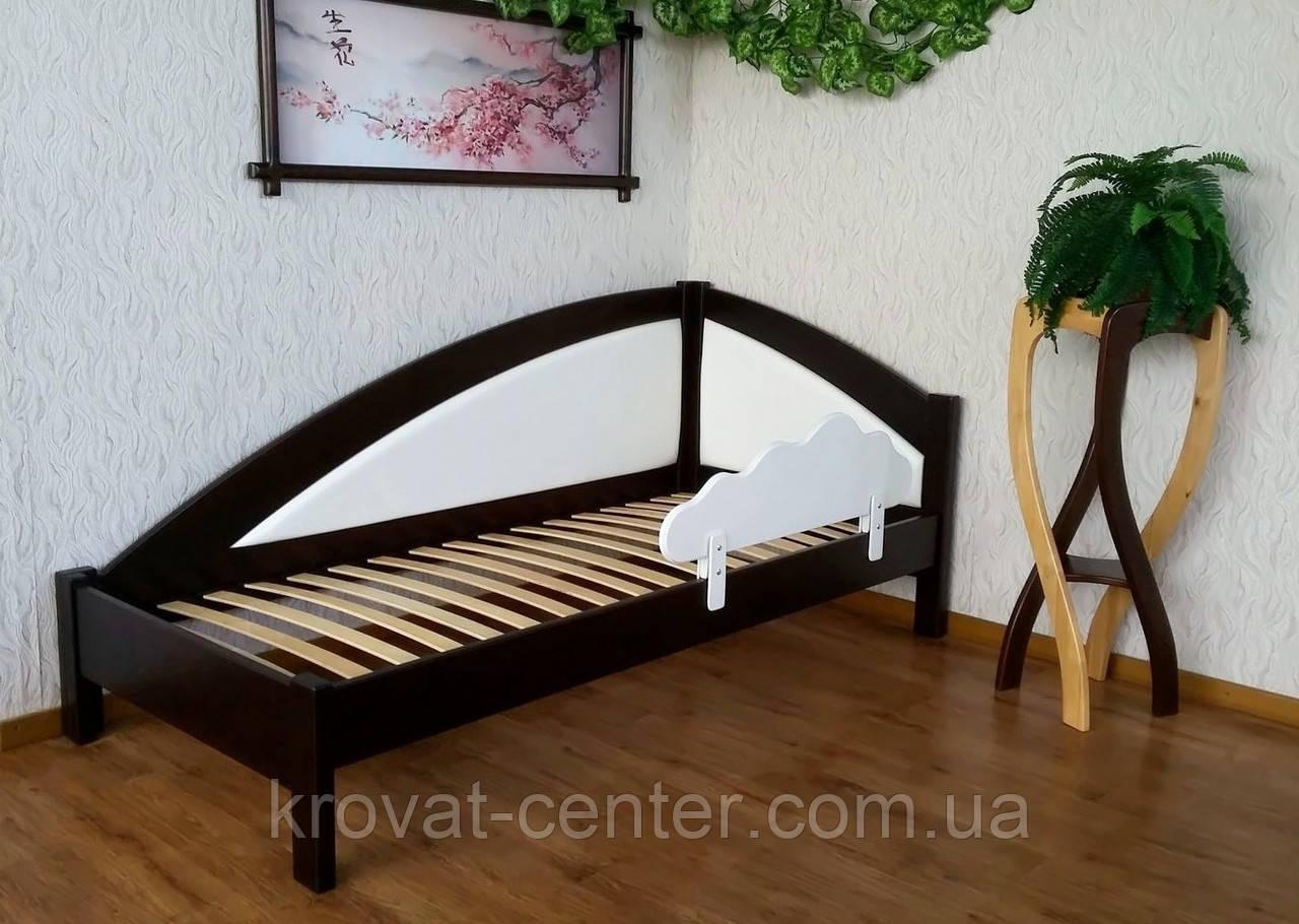"""Детская деревянная кровать с защитным бортиком """"Радуга Премиум"""""""