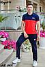 Мужской молодежный летний спортивный костюм: штаны и футболка поло, реплика Tommy Hilfiger, фото 7