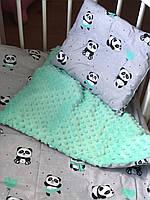 Детский постельный набор Newbornsize, до 2-х лет (panda)
