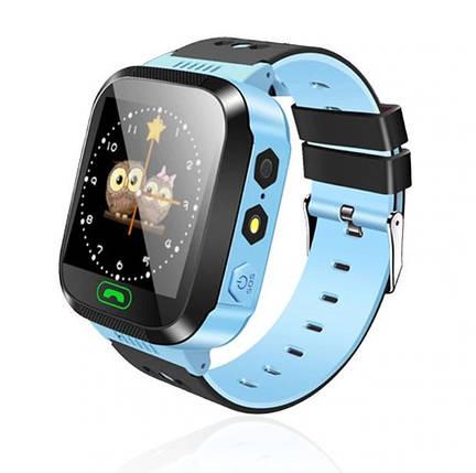 Дитячі розумні годинник Smart Watch F1 Блакитний, фото 2