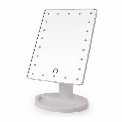 Дзеркало з підсвічуванням для макіяжу - Large Led Mirror Білий, фото 2