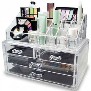 Органайзер Cosmetic Storage Box для хранения косметики и аксессуаров на 4 отделения, фото 2