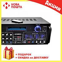 Усилитель мощности звука UKC AMP AV 1800 | компактный усилитель звука | усилитель мощности, фото 1