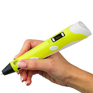 Ручка 3d с таблом Желтая, фото 2