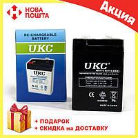 Герметичный кислотно-свинцовый аккумулятор BATTERY RB 640 6V 4A UKC | аккумуляторная батарея, фото 1