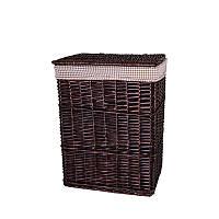 Корзина для белья плетеная с крышкой темно - коричневая AWD02241590