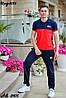 Чоловічий молодіжний літній спортивний костюм: штани і футболка поло, репліка Tommy Hilfiger, фото 10