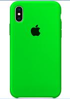 Чехол накладка Apple Silicone Case для iPhone X / Xs  Ярко-салатовый
