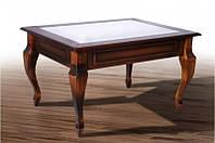 Стол журнальный  деревянный со стеклом Рим -2