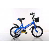 "Детский велосипед TopRider 876 16"" синий"