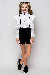 Нарядная школьная блузка на девочку