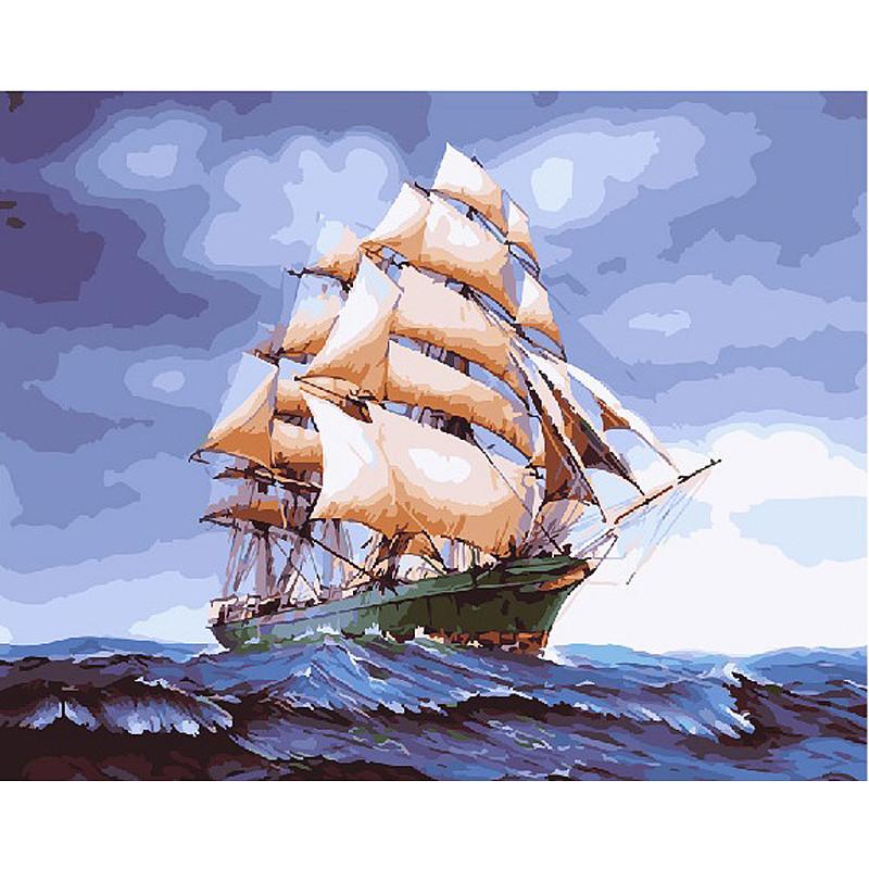 Картина по номерам Бригантина в буйном море GX25149