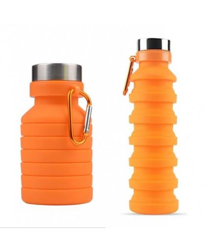 Складна силіконова пляшка LUX Bottle EL-582 550 мл легка й компактна для подорожей