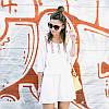 Короткая женская пляжная туника с вышивкой опт