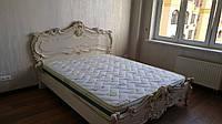 Ліжко(кровать) з натурального дерева(ясен, дуб, клен) різьблене чудовим орнаментом.