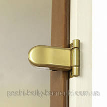 Двери для сауны GREUS PREMIUM 70х200 см (bronze) 2 петли, фото 3