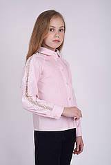 """Блуза школьная с длинным кружевным рукавом """"Mary"""" Размеры 122- 152"""
