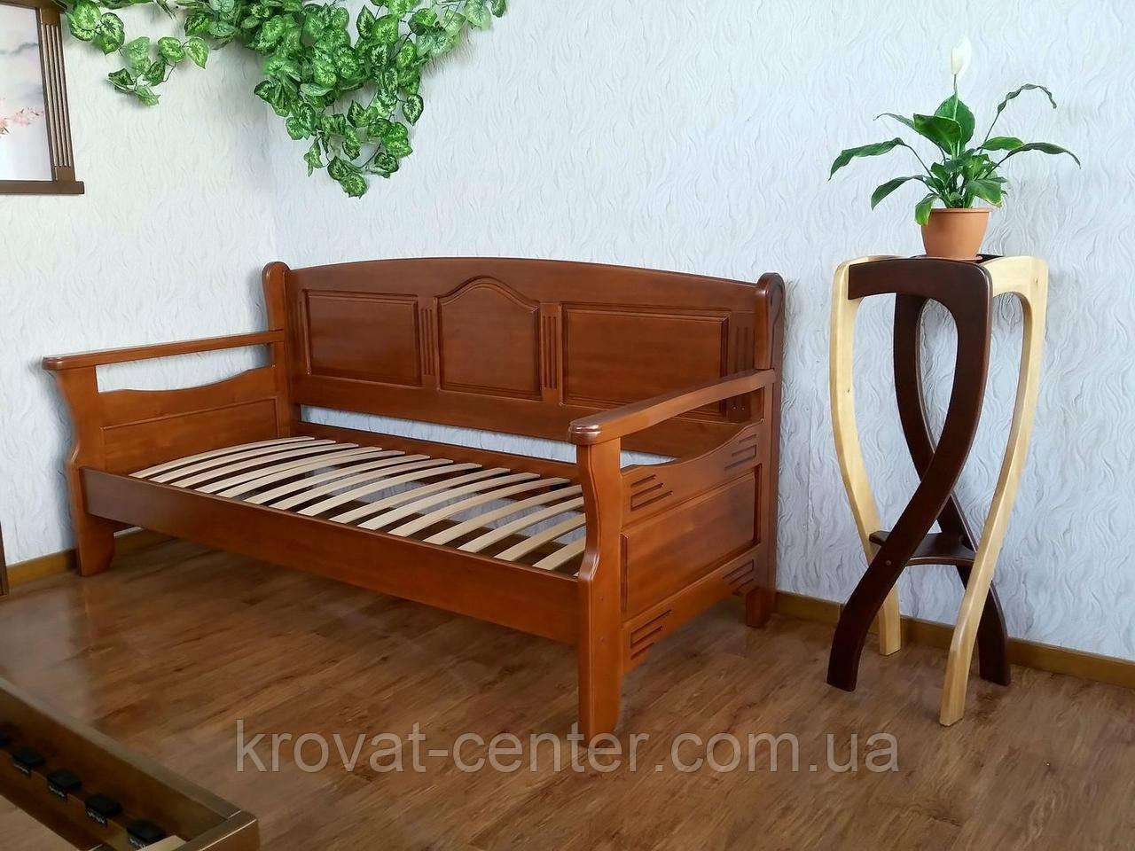 """Диван ліжко з масиву натурального дерева від виробника """"Орфей Преміум"""""""