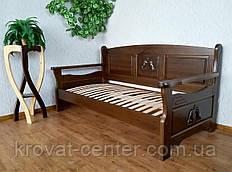 """Прямой диван из массива натурального дерева от производителя """"Орфей Премиум"""""""