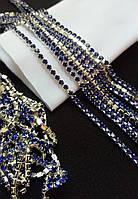 Страхова ланцюг, silver, Sapphire SS6 (2,0 мм) 1 ряд. Ціна за 0.5 м.